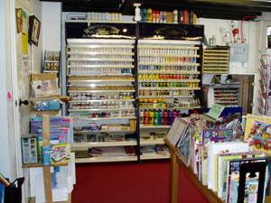 A wide selection of art materials